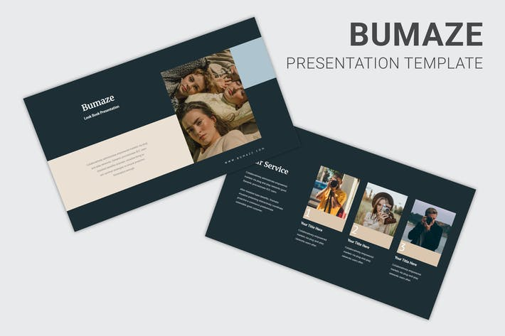 Thumbnail for Bumaze - Photography Pitch Deck Keynote