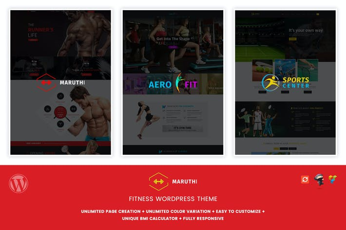 Thumbnail for Maruthi Fitness - Fitness Center WordPress Thema