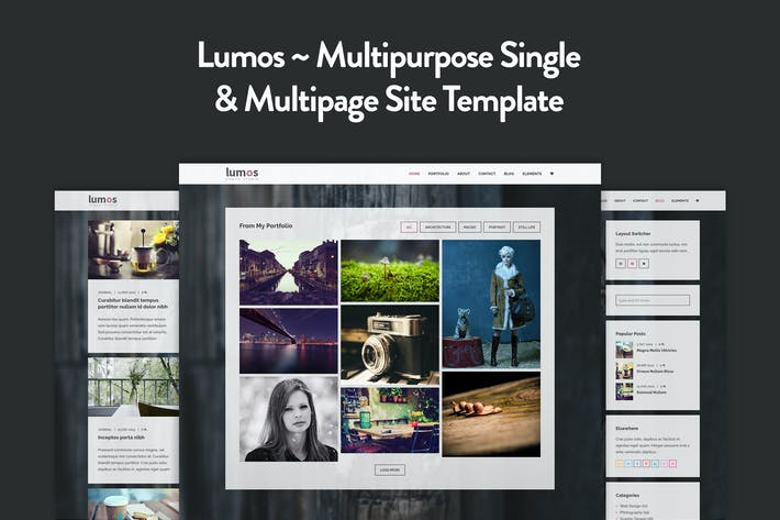 Thumbnail for Lumos - Multipurpose Single/Multi-page Template