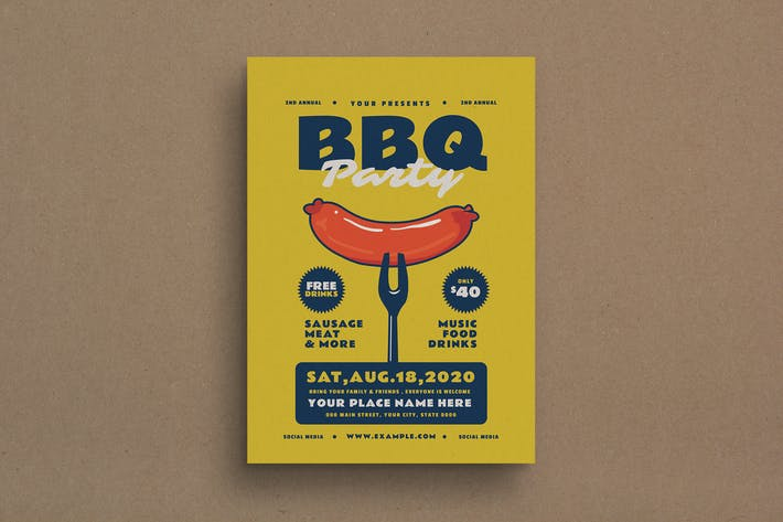 Thumbnail for BBQ Party Event Flyer