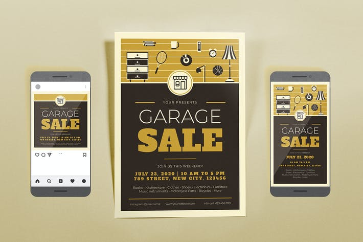 Thumbnail for Garage Sale Brown Template Set