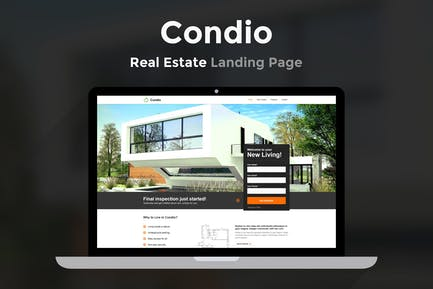 Condio - Real Estate Landing Page