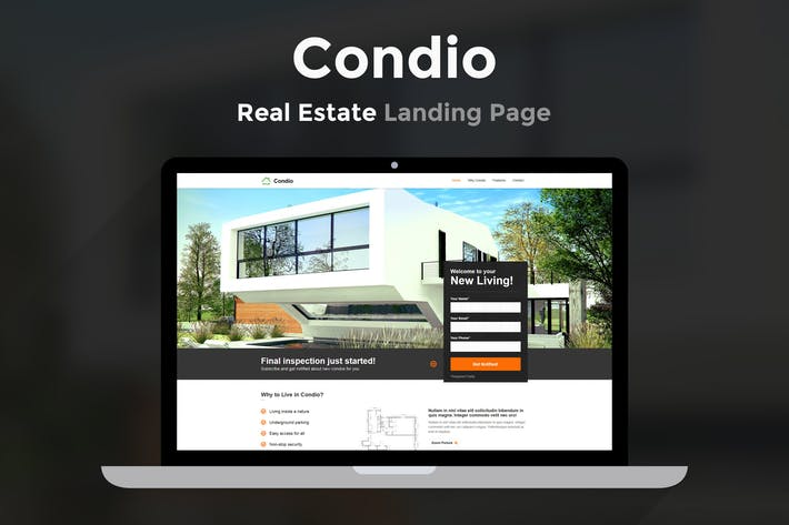 Thumbnail for Condio - Real Estate Landing Page