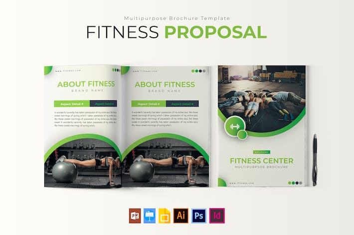 Thumbnail for Fitness | Brochure Template