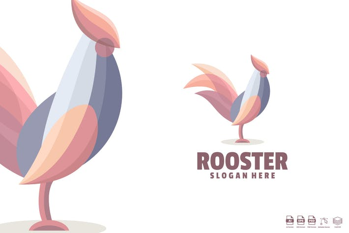 Thumbnail for rooster logo template