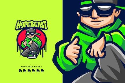 Logo de personnage Hypebeast