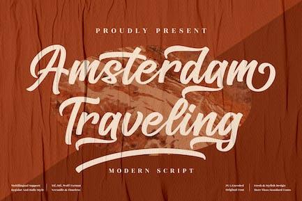 Amsterdam Traveling Modern Script LS
