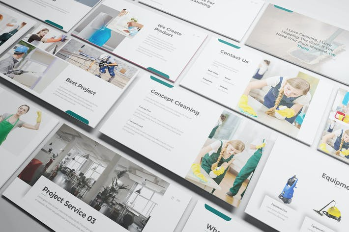 Cover Image For Cleaning Service Powerpoint Template