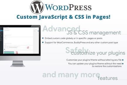 Personalizar JavaScript & CSS en Pages!
