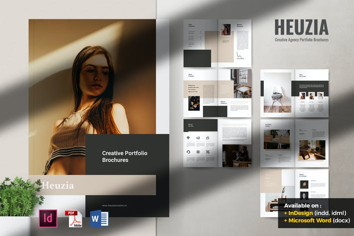 Thumbnail for HEUZIA Creative Agency Portfolio Brochures