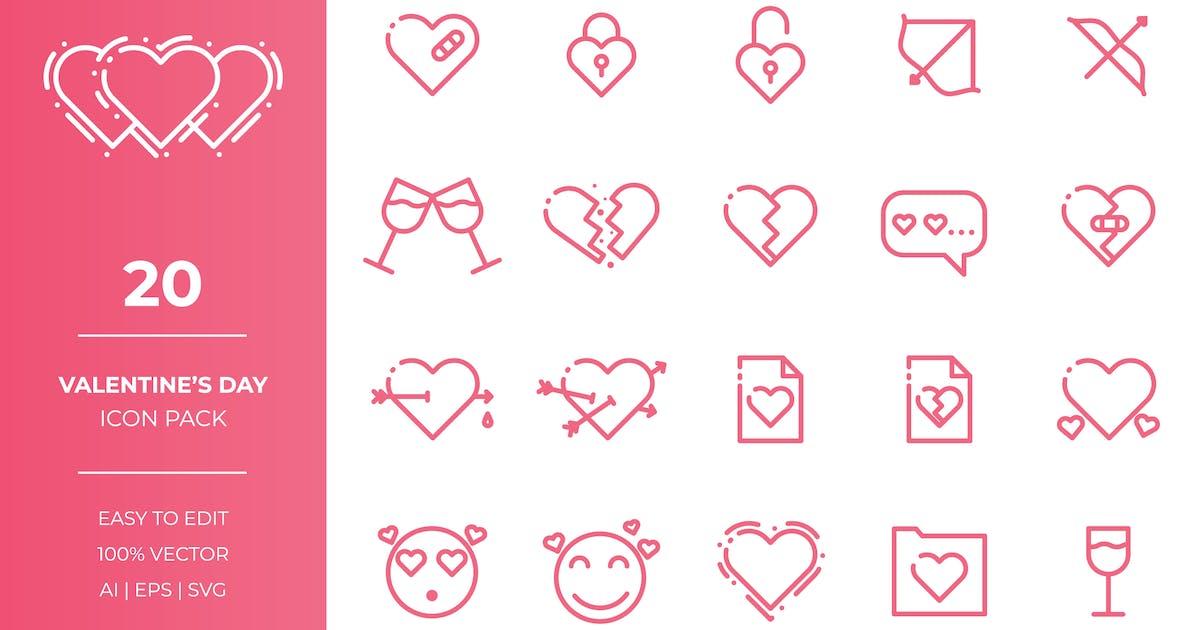 Valentines Day Icon Collection by EightonesixStudios