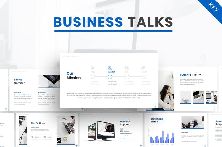 Thumbnail for Business Talk - Company Keynote Template