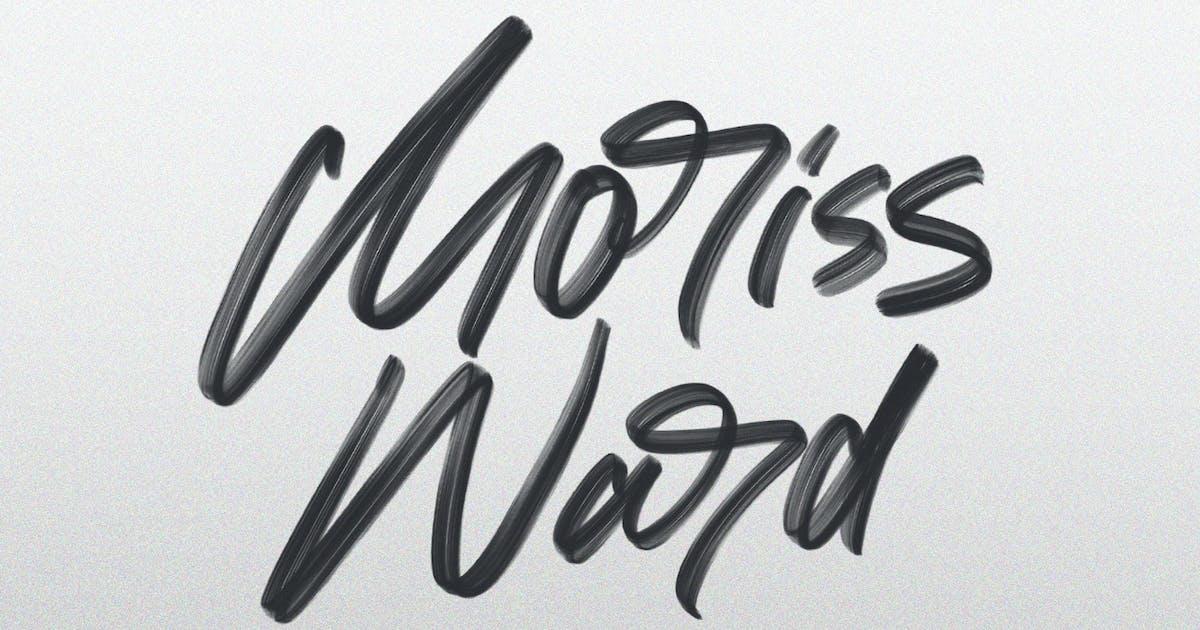 Download Moriss Ward SVG Brush Font by maulanacreative