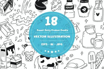 Kawaii Dairy Product Doodle Set