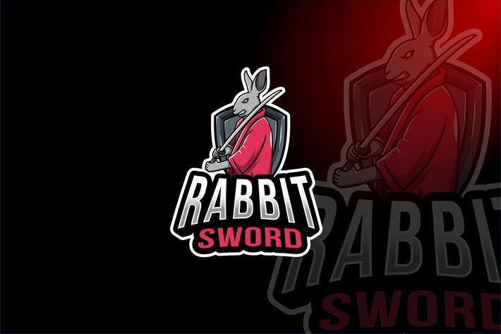 Thumbnail for Rabbit Sword Esport Logo Template