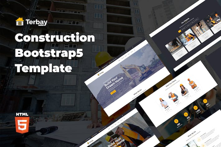 Thumbnail for Terbay - Construction Bootstrap5 Modèle