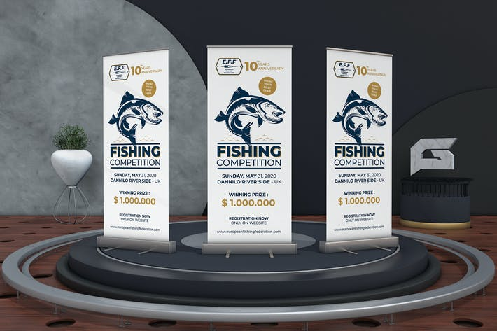 Thumbnail for Fishing Competition Roll Up Banner