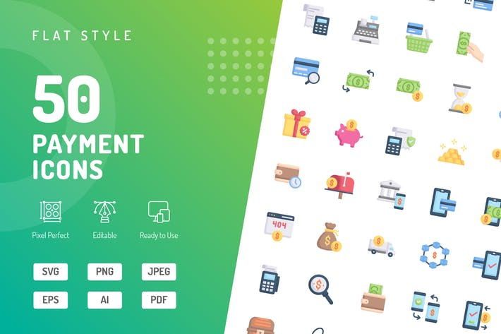 Payment Flat Icons