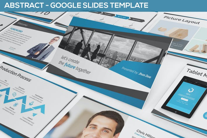 Thumbnail for Abstract Google Slides Template