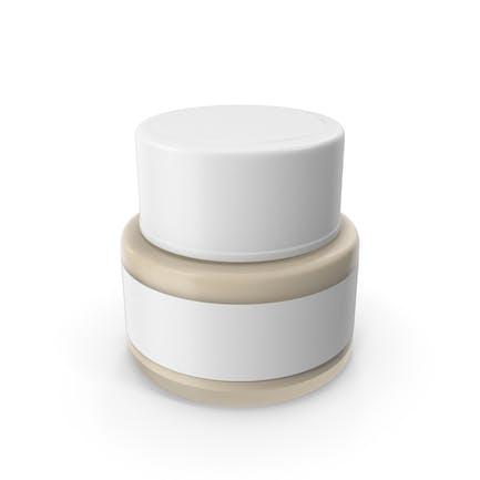Botella crema cosmética blanca