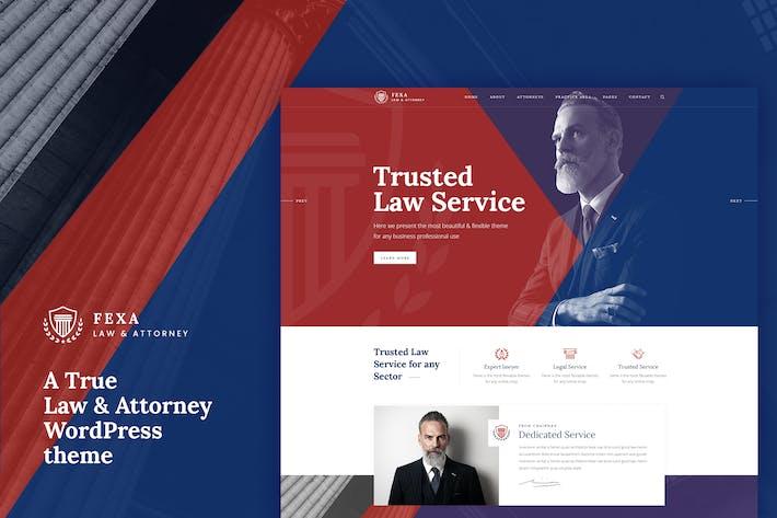 Thumbnail for Fexa- Anwalt & Rechtsanwalt WordPress Thema