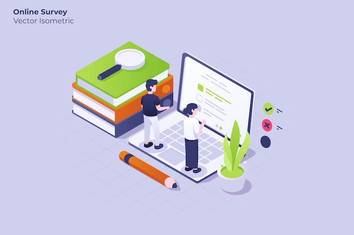 Thumbnail for Online Survey - Vector Illustration