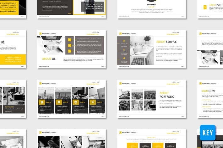 Thumbnail for Corporate Business Proposal Template - (KEY)