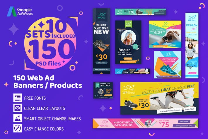 Thumbnail for 150 Web Ad Banners-Products