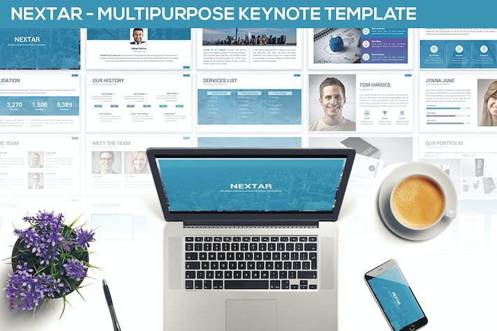 Thumbnail for Nextar - Multipurpose Keynote Template