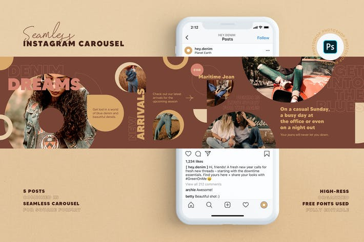Thumbnail for Fashion Store Instagram Carousel