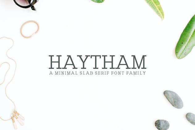 Haytham Slab Serif Fonts Packs