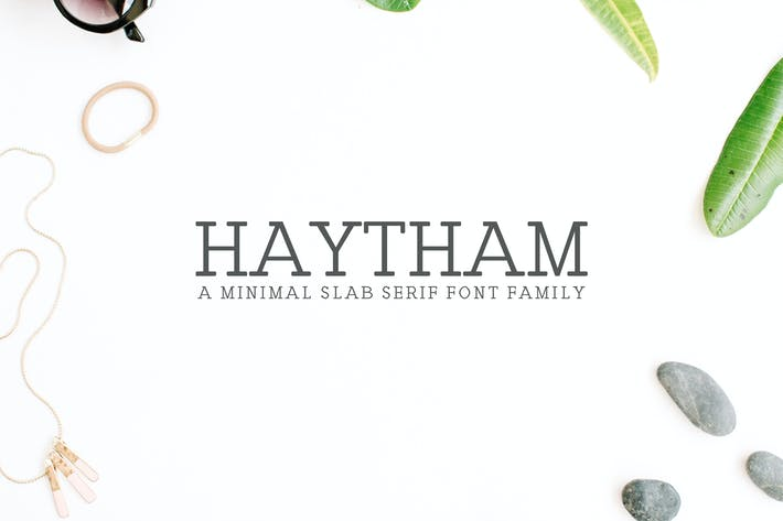 Thumbnail for Haytham Slab Serif Fonts Packs