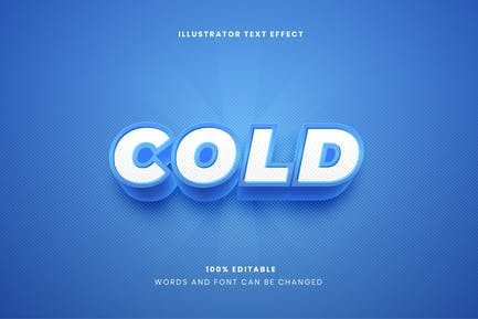 Bold Cold Text Effect