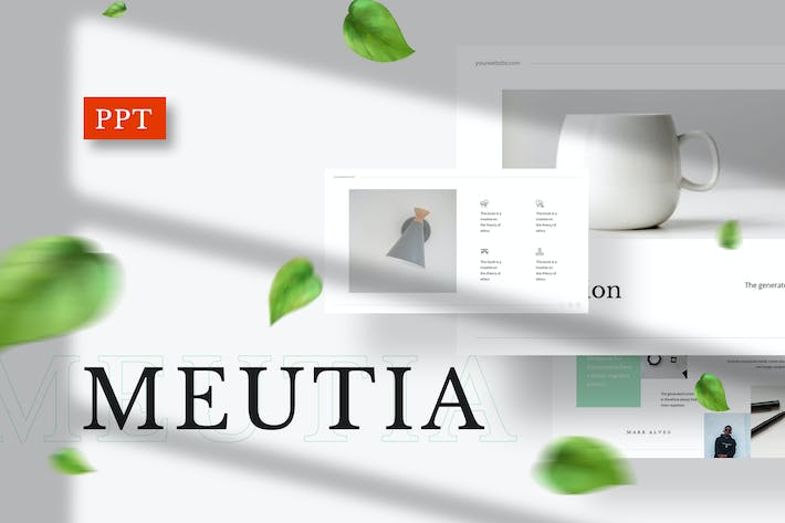 Thumbnail for Meutia - Minimalist Powerpoint Template