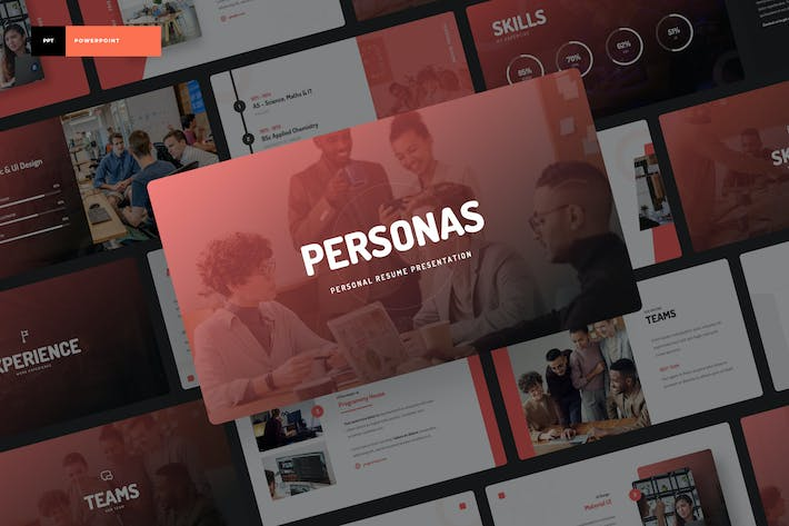 Thumbnail for Personas - Personal Portfolio Power Point