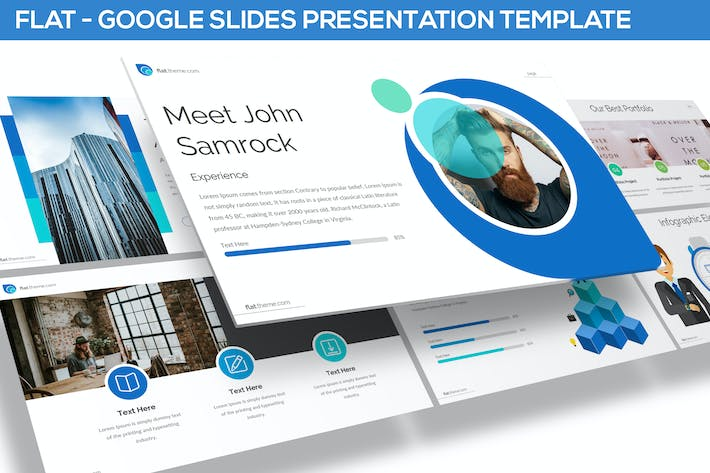 Thumbnail for FLAT - GOOGLE SLIDES TEMPLATE