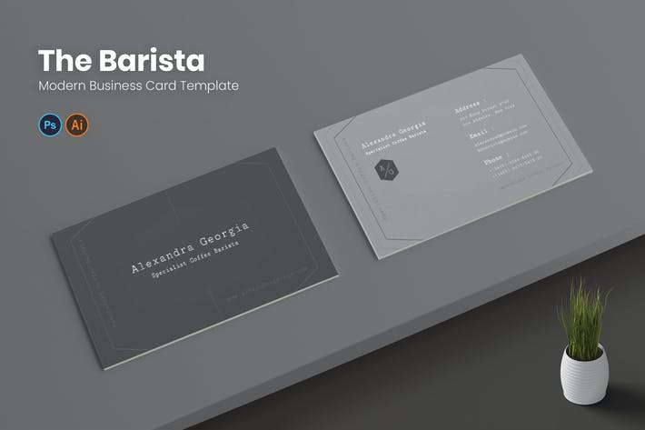 Thumbnail for Barista Business Card