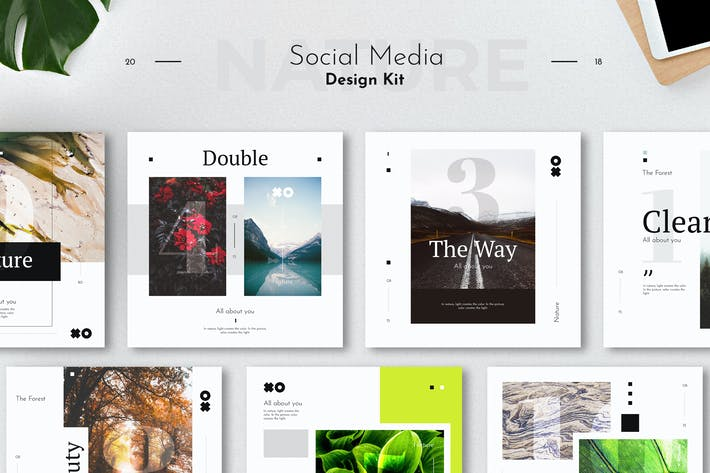 Thumbnail for Social Media Design Kit Template