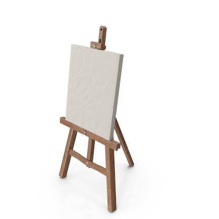 Caballete y lienzo de pintura
