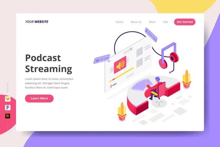 Thumbnail for Podcast Streaming - Landing Page