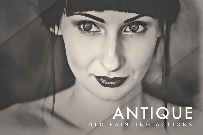 Thumbnail for Old Painting FX Photoshop Actions