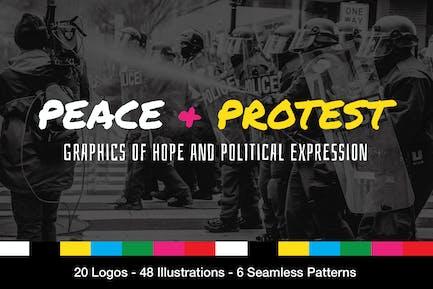 ProtestGrafiken und Slogans
