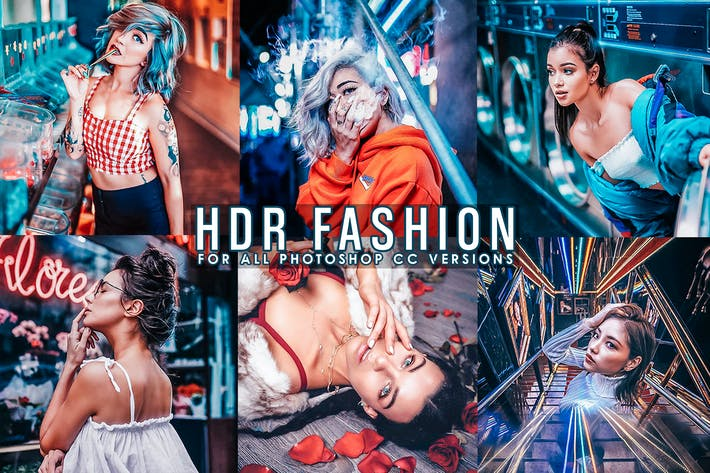 Thumbnail for HDR Fashion - Портретные действия Photoshop