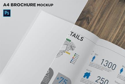 A4 Brochure Page Closeup Mockup
