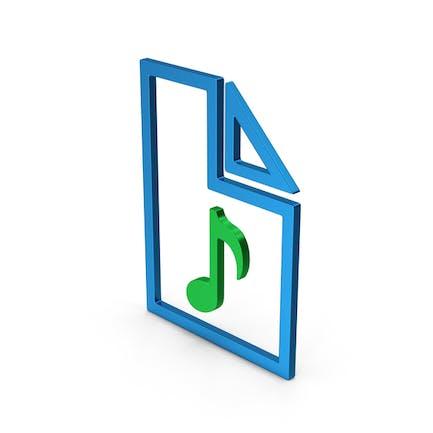 Audio File Colored Metallic
