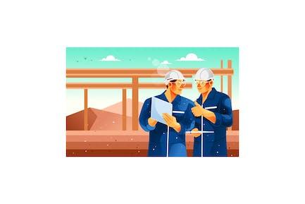 Teamwork von Ingenieuren