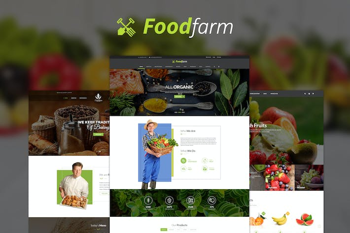 Thumbnail for FoodFarm - Multipurpose PSD Template