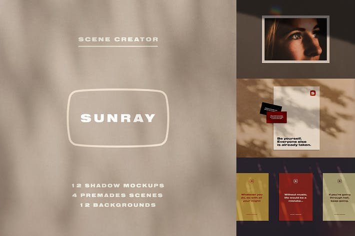 Thumbnail for Sunray Stationery Shadow Mockups