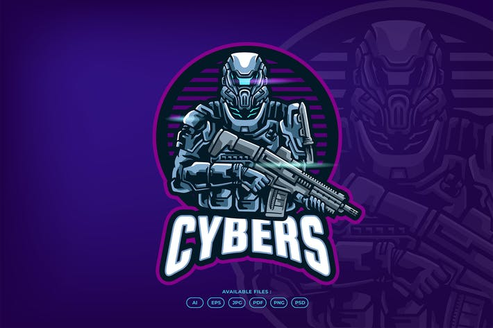 Thumbnail for Future Cyber Army Robot With Gun