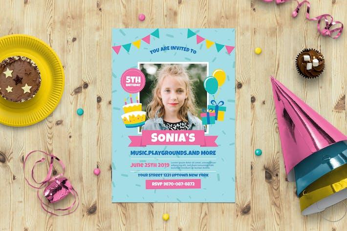 Thumbnail for Birtyhday Party  Invitation